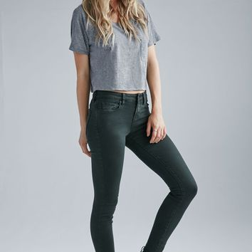 Bullhead Denim Co. Forest Mid Rise Skinny Jeans - Womens Jeans - Forest Grn
