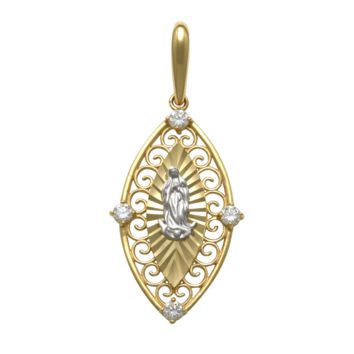 Religious Pendant in 14k Yellow Gold