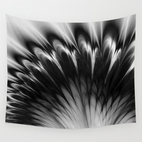Black and White Elegance Wall Tapestry by Leatherwood Design