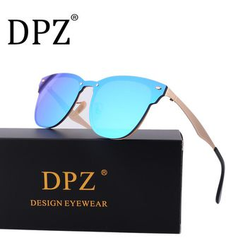 2018  Luxury Brand  hot fashion half frame sunglasses women retro men hot rayeds  driving sun glasses club UV400 3576