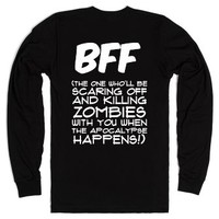 BFF - The One Who'll be Killing Zombies with You-Black T-Shirt