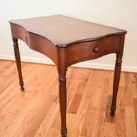 antique table, antique end table, antique accent table, antique desk table, beautiful antique wooden desk table with drawer