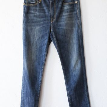 r13 blue skinny slouch jeans