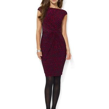 Lauren Ralph Lauren Printed Jersey Knot Dress