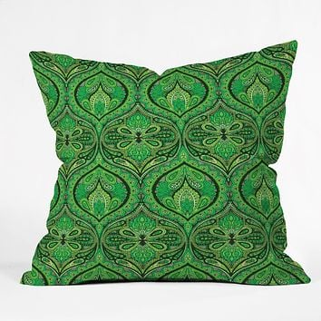 Aimee St Hill Ogee Green Throw Pillow