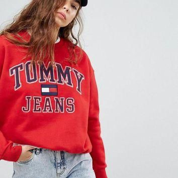 e92a29ce Tommy Hilfiger 90s Capsule Logo Sweatshirt Top Sweater Pullover