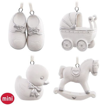 Welcome Baby Mini Ornament Set Of 4