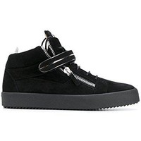 Giuseppe Zanotti Design Men's RU70050002 Black Leather Hi Top Sneakers