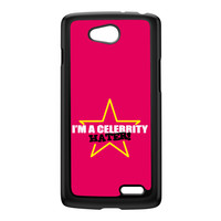 Celebrity Hater Black Hard Plastic Case for LG L90 by Chargrilled