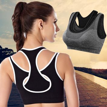 Women Yoga Shirt Running Fitness GYm Sports Bra Yoga Gym Top Vest Shockproof High Support Workout Bra for Women Activewear