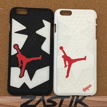 ONETOW 2 Piece Nike Air Jordan XI 11 Space Jam Bred Iphone 5 5S 6 6 Plus Phone Case Cover Sho