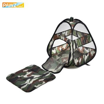 Pet Shop Collapsible Camouflage Cat Bed Breathable Tent