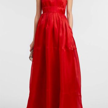Silk-Organza Gown