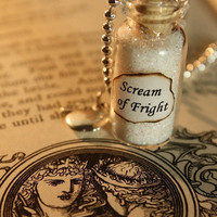 Glass Vial Necklace - Fairy Tale Inspired - Snow White's Scream of Fright