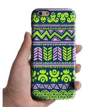 Turquoise Aztec Lime iPhone Case Green iPhone 6 plus Case iPhone 6 Case iPhone 5 Case iPhone 5c Case Samsung Galaxy S6 edge S6 Case 034lime