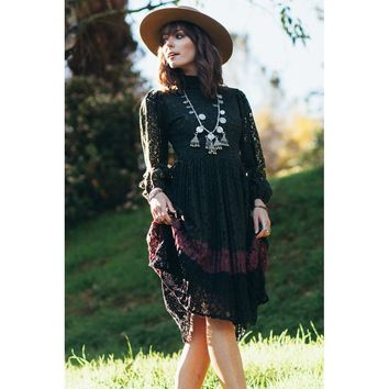 Sleeves Midi Casual Dress