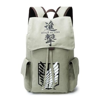 Cool Attack on Titan  Backpack Schoolbag for Students Anime Game Canvas Book Bag AT_90_11