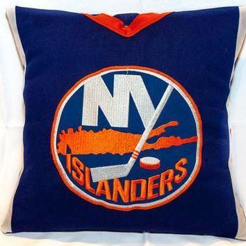 NHL Hockey Jersey Throw Pillow for Mancave, Hockey-Mom Van, One-of-a-Kind!! Genuine Ho