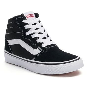 Vans Milton Boys' High-Top Skate Shoes (Black)