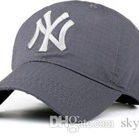 5 Color Yankees Hip Hop  Snapback Baseball Caps NY Hats  Unisex Sports New York Adjustable Bone Men Casual headware.Free DHL.