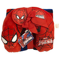 Marvel 3 Piece Spiderman Gift Set (Throw Blanket, Neck Pillow, Eye Mask)