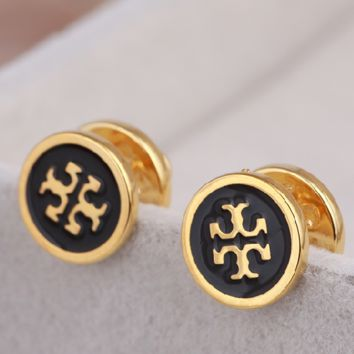 Tory Burch New fashion personality earring accessories Black