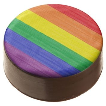 Painted Rainbow Flag Chocolate Dipped Oreo