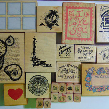 23 Everyday Rubber Stamps Stampin Up and More Great For Crafts, Scrapbooking, Cards and more