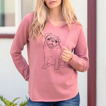 Higgins the Pug - Cali Wave Hooded Sweatshirt