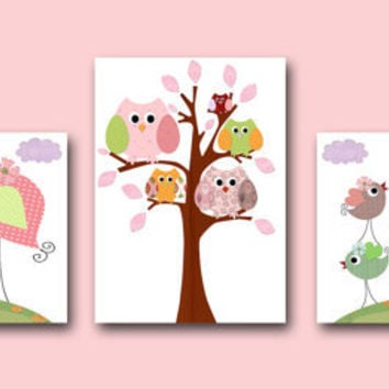 best owl nursery set baby girl products on wanelo