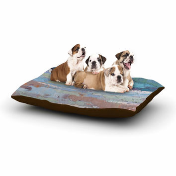 "Carol Schiff ""Surf Dreams"" Blue Painting Dog Bed"