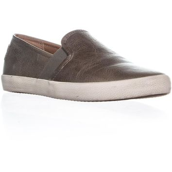 FRYE Dylan Slip-On Vintage Fashion Sneakers, Ash, 10 US