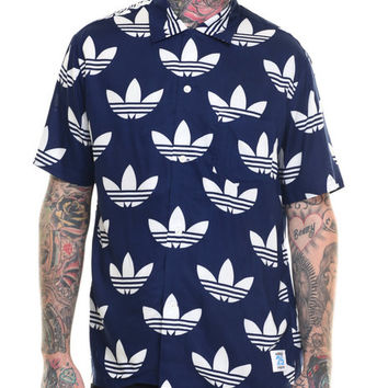 25 Aloha Trefoil S/S Button-Down by Adidas