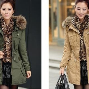 Women Thicken Warm Winter Coat Hood Parka Overcoat Long Jacket Outwear = 1929769860