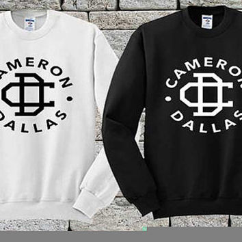 cameron dallas Black White sweater Sweatshirt Crewneck Men or Women Unisex