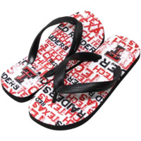 Texas Tech Red Raiders Unisex Allover Print Flip Flops