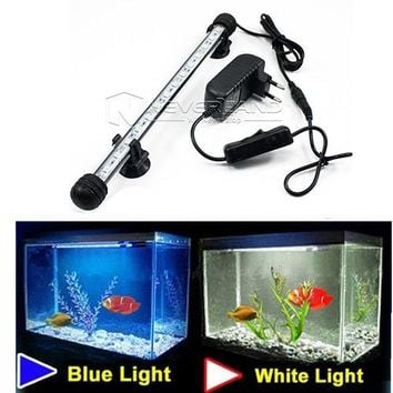 EU Plug US Plug Aquarium Fish Tank LED Light 18 28 38 48CM Bar Submersible Waterproof Clip Lamp Decor