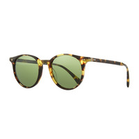 Delray Sun 48 Round Sunglasses, Dark Brown - Oliver Peoples