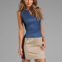 10 CROSBY DEREK LAM Sleeveless Dress in Taupe/Indigo/Black from REVOLVEclothing.com