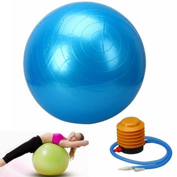 55cm Explosion-proof Thickening Fitness Yoga Ball with Inflator Pump [8069650503]