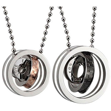 3 Rings Eternal Chains Imprint Love Men Women's Couple Necklaces