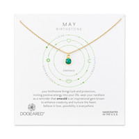 May Emerald Necklace, Gold Dipped | Dogeared