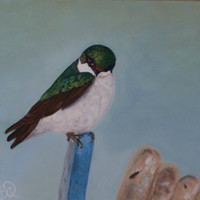 Bird Painting Acrylic Original Beauty in by bethanyaleman on Etsy