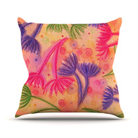 "Ebi Emporium ""Cow Parsley"" Outdoor Throw Pillow"