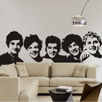 One Direction wall decal One Direction wall sticker One Direction decal 1D vinyl young bedroom art mural wall decals stickers paper
