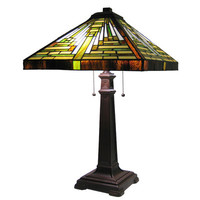 "Chloe Lighting Tiffany 25"" H Table Lamp with Empire Shade"