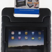iPad 2 3 4 Tech & Go Bump Case Black Protect Impact Bumps Handle Stand Carry NEW
