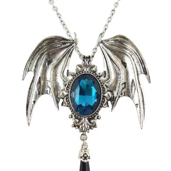 Restyle Della Morte Gothic Vampire Bat Broach Pendant Necklace