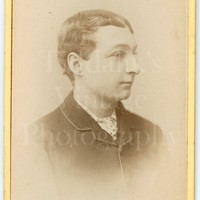 CDV Carte de Visite Photo Victorian Handsome Smart Young Man, Polka Dot Tie Portrait - E Whiteman of Hastings East Sussex - Antique Photo