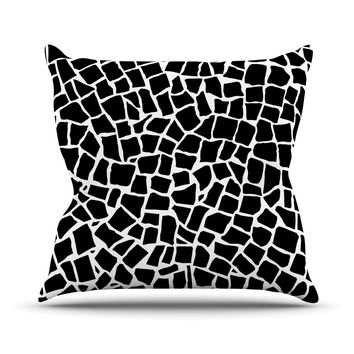 "Project M ""British Mosaic Black"" Throw Pillow"